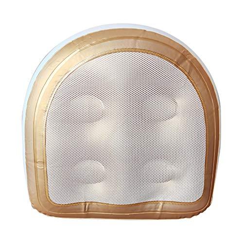 Cojín de spa Almohadas de baño Cabeza de cojín de bañera de spa con cubierta de malla Ventosa Asiento elevador de bañera de hidromasaje, cojín de masaje inflable para spa y bañera de hidromasaje