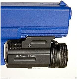 Ade Advanced Optics Ultra Compact Pistol Class 3R Green Laser Gun Sight with Quick Release Weaver Mount, Black