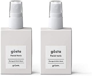 Grüum Gösta Energising Facial Tonic & Toner Duo Pack, Light Citrus Scent 2 x 50ml Duo