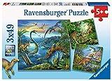 Ravensburger Kinderpuzzle 09317 - Faszination Dinosaurier - 3 x 49 Teile