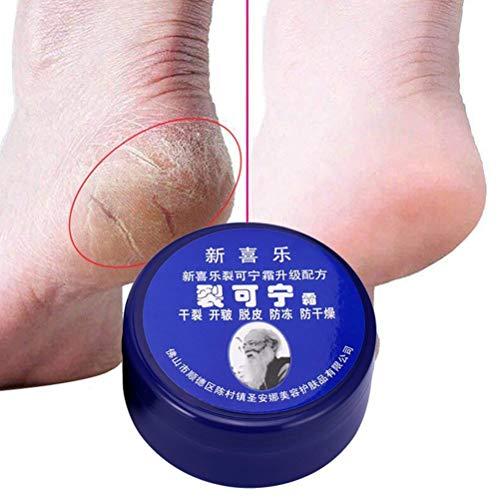 Vssictor Crema Profesional para el Cuidado de los pies, Crema para Las Manos y los pies, ungüento Exfoliante Agrietado para el talón Agrietado, suaviza y previene la sequedad Adecuado para diabéticos