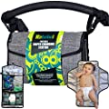 Rebebel Portable Changing Pad Clutch with Convertible Shoulder/Stroller Straps and Pockets for Wipes & Diapers – a Complete Compact Baby Diapering Station for Everyday and Travel by Rebebel