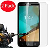 2 Pack - Vodafone Smart First 7 Tempered Glass, FoneExpert Tempered Glass Crystal Clear LCD Screen Protector Guard & Polishing Cloth For Vodafone Smart First 7