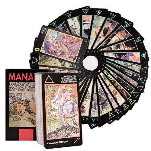 Gxnimer Tarot Deck Cards Divination Future Telling Game - 78-Card Kit with Guide Booklet Electronic for Beginners & Expert Readers