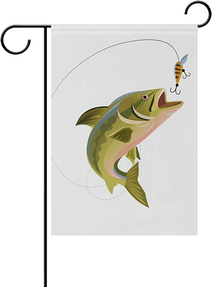Fishing Trout Garden Flag 12 X18 Double Sided Yard Decoration Polyester Outddor Flag Home Party Garden Outdoor