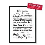 Personalisierter Abschied & Dankeschön für Tagesmutter | Poster | Geschenk | Kindergarten | Krippe | Erzieherin | OHNE Rahmen