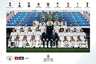 Real Madrid - Soccer/Sports Poster/Print (Team Photo Season 2017/2018) (Size: 36 inches x 24 inches)