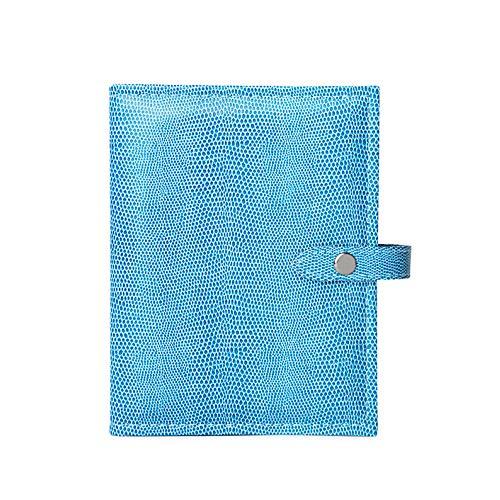 Das Kleine Buch der Ohrringe - Hält 48 Paar Ohrringe auf 4 Seiten - (Farbe Blau Lizard)