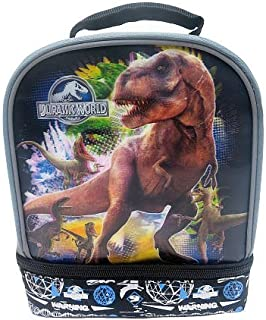 JURASSIC WORLD 3-D T-REX Dual-Chamber Lead-Safe Insulated Lunch Tote Box Bag