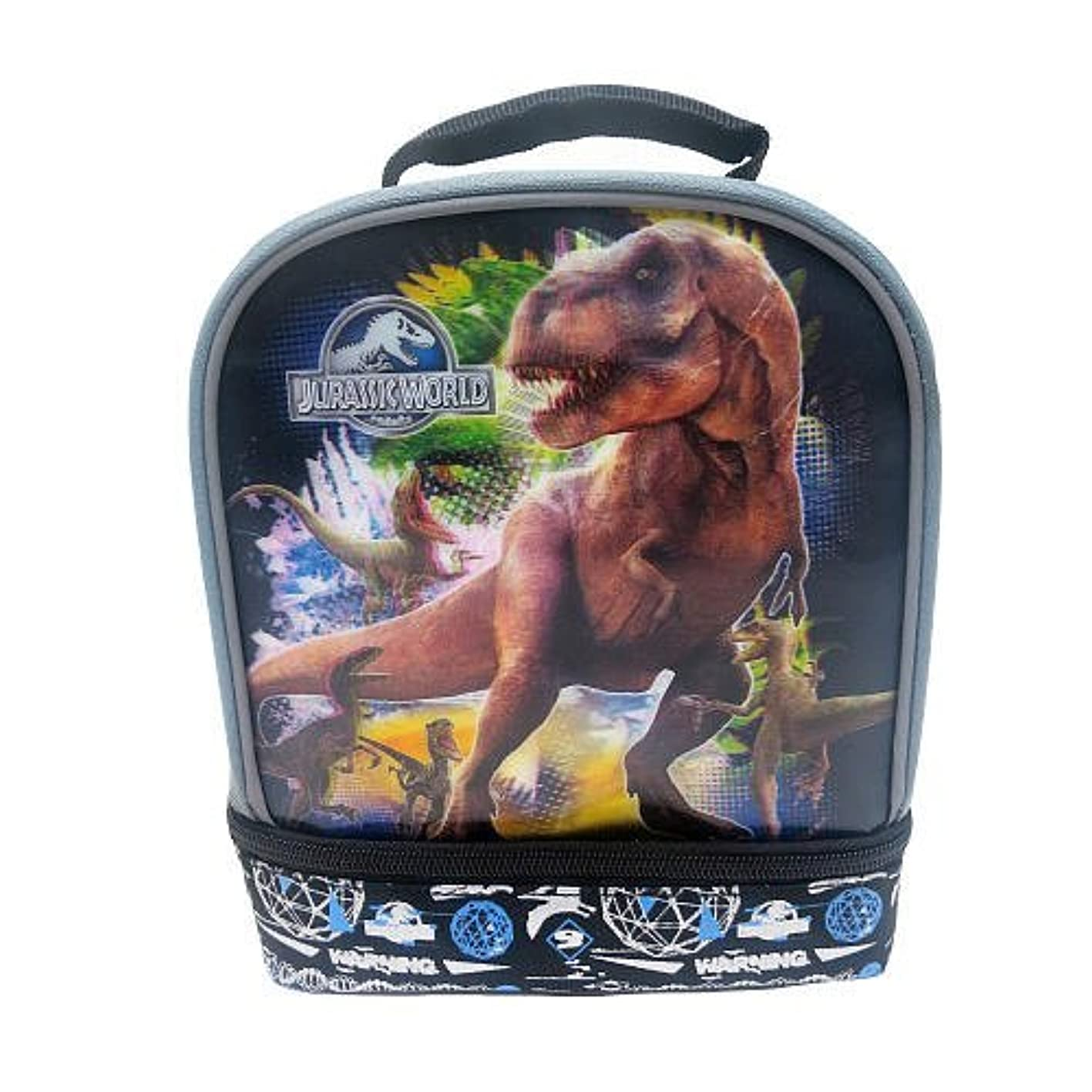 JURASSIC WORLD 3-D T-REX Dual-Chamber Lead-Safe Insulated Lunch Tote Box Bag lgaeoxqxcjz479
