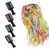 Peine de tiza para el pelo, color temporal, 12 colores, ideal para niñas, niños, adultos, para festivales, carnaval, fiesta, Navidad, Halloween, cumpleaños