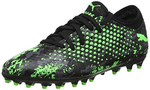 Puma Future 19.4 MG Jr Fußballschuhe, Schwarz Black-Charcoal Gray-Green Gecko, 38 EU
