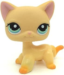 ZAD Littlest Pet Shop Animals LPS #339 Yellow & Orange Shorthair Kitty Cat Rare