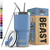 BEAST 30oz Stormy Sky Tumbler - Stainless Steel Vacuum Insulated Coffee Ice Cup Double Wall Travel Flask