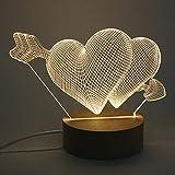 Tiardey - Lámpara de Mesa LED Amarilla cálida para Escritorio, luz Nocturna, acrílica Plana con Base de Madera para...