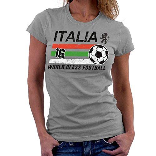 Euro 2016 Football Italy Italia Ball Grey Women's T-Shirt