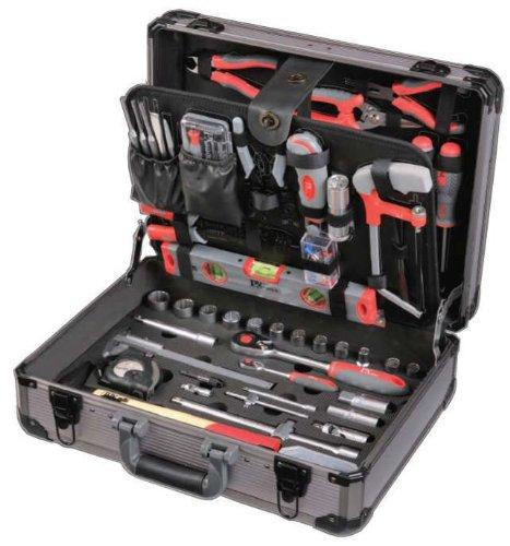 Tixit Aluminium-Werkzeugkoffer MECHANIKER 120-teilig für Mechaniker, Elektroniker und Montage