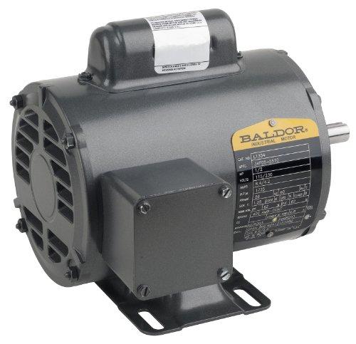 Baldor L1409T General Purpose AC Motor, Single Phase, 184T Frame, Open Enclosure, 5Hp Output, 3450rpm, 60Hz, 230V Voltage