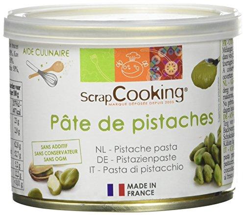 ScrapCooking - Pâte de Pistaches 200g - Ingrédient pour Pâtisseries, Desserts, Macarons, Entremets, Cakes, Glaces, Smoothies, Gâteaux - Cake Design - 4508