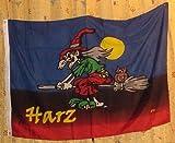 Flagge Fahne ca. 90x150 cm : Harz Hexe Walpurgisnacht