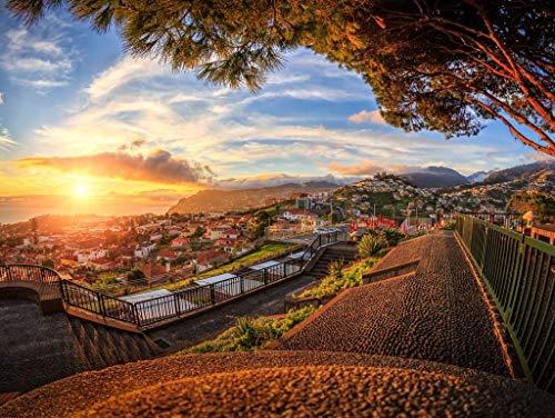 Lais Puzzle Madeira Portogallo Funchal Vista da Monte 100 Pezzi