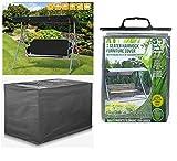Heavy Duty Woven Polyethylene Waterproof 3 Seater <span class='highlight'>Swing</span>ing <span class='highlight'>Garden</span> Hammock Cover In Dark Grey