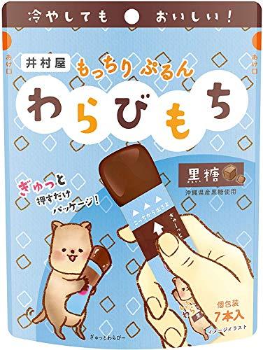 井村屋 もっちりぷるん わらびもち 黒糖 7本×4袋