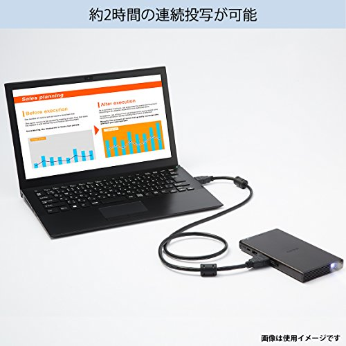 ソニーモバイルプロジェクターUSB給電機能搭載MP-CD1:DLP投影方式LED光源HDMI端子搭載クイックスタート対応