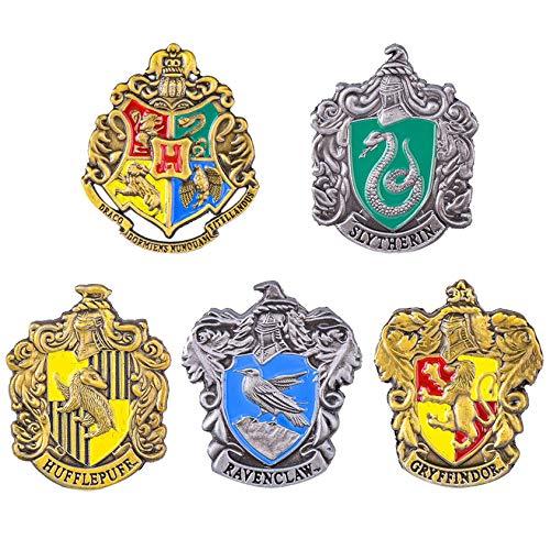FomCcu Broche de metal con escudo de Hogwarts de Harry Fans
