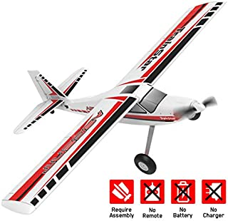 VOLANTEXRC Remote Control Airplane TrainStar Ascent Electric RC Trainer Aircraft with Gyro, 1400mm Wingspan & Plastic Unib...
