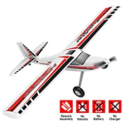 ASCENT rc trainer plane with 1.4m wings have good performance and provide a quick and easy way to learn and experience the thrill of RC soaring or relax with a quick flight. DURABLE MATERIAL BRINGS LONG LIFE TIME: The unibody ABS plastic airframe, st...