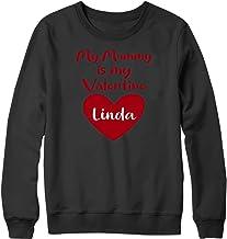 Gepersonaliseerde Happy Valentines day 2021 Sweatshirt Mummie Naam Liefde Gift Lockdown