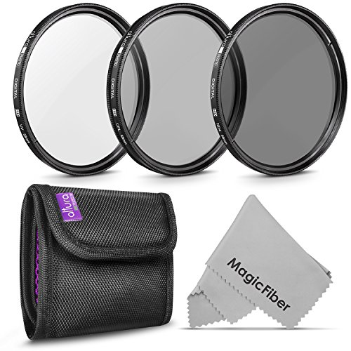 58MM Lens Filter Kit by Altura Photo, Includes 58MM ND Filter, 58MM CPL Filter, 58MM UV Filter, (UV, CPL Polarizing Filter, Neutral Density ND4) for Camera Lens with 58MM Filters + Lens Filter Case