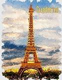 Cuaderno: París, Pintura de arte - A4, cuadrícula 5 x 5 mm, 100 páginas