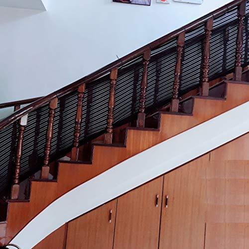 Red De Prevención De Caídas De Balcón De Escalera Red De Seguridad Para Barandillas Para Niños Diseño De Punto Por Urdimbre, Ningún Corte No Goteará, No Se Aflojará Adecuado Para Interiores, Escaleras