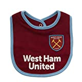 West Ham United FC - Pack de 2 baberos (Talla Única) (Blanco/Morado)