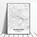 NOVELOVE Remscheid Stadt Deutschland Karte Poster HD Drucke