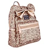 Disney Parks Sequined Rose Gold Designer Mini Backpack