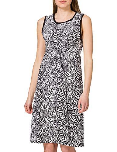 blue seven Damen Alloverdruck Kleid, Rundhals Vestido, 999 Negro Orig, 46 para Mujer