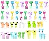 Gwotfy Postre de Fruta Palillo de Dientes Forks, Tenedores de Fruta plástico para niños Mini...