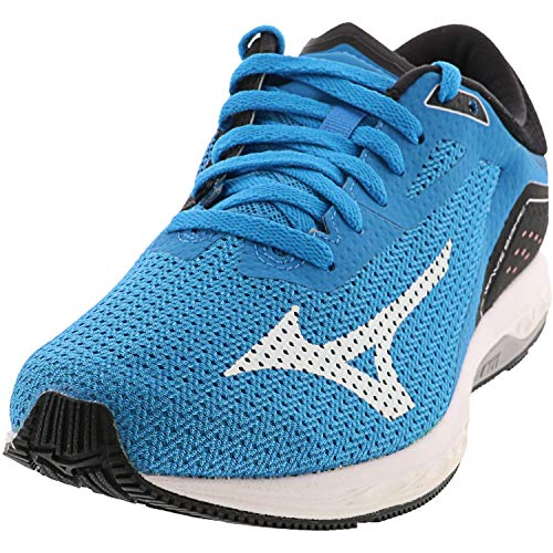 Mizuno Men's Wave Sonic Running Shoe, Blue Jewel/Black, 7.5 D US