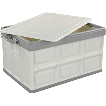 Bblie Caja Plegable con Tapa, Caja de Almacenamiento de Plástico: Amazon.es: Hogar