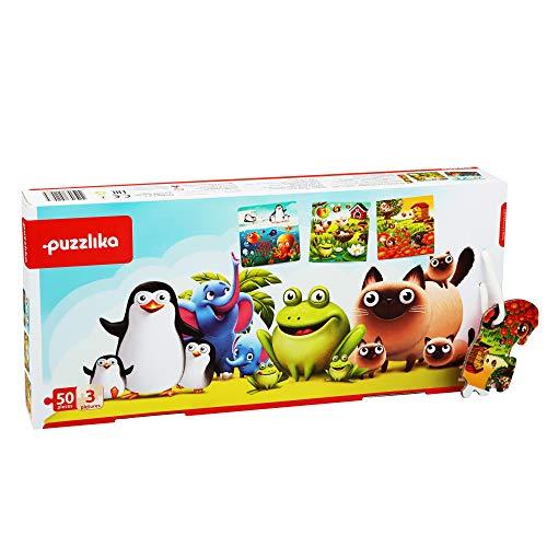 New Classic Toys 12985 3 en 1 Mis Animales Favoritos Puzle Infantil, Multicolor ( P12985)