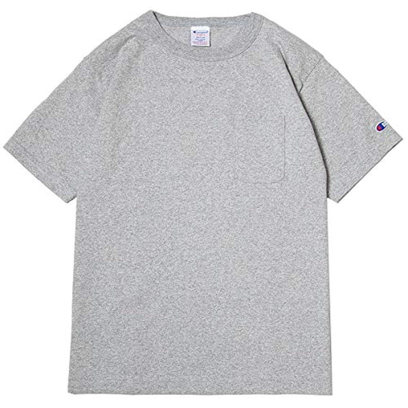 パール氷北チャンピオン Tシャツ メンズ CHAMPION T1011 ポケット付き US Tシャツ 19SS MADE IN USA オックスフォードグレー
