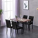 Deuline 4X Esszimmerstühle Esszimmerstuhl Polsterst Stuhl Stühle Lehnstuhl Paris Schwarz 521203
