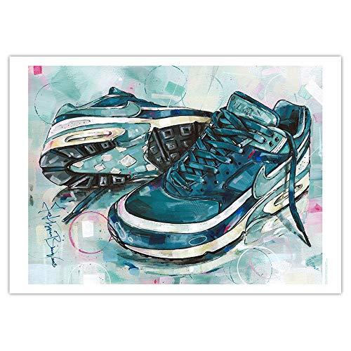 Impresión artística Nike Air Max Classic BW Marina Grey Jade (50 x 70 cm), sin marco