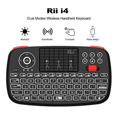Zoe home I4 Rii Mini Teclado Bluetooth de 2,4 GHz de Doble Modos de Mano diapasón retroiluminado del Touchpad del Control Remoto for Windows Android (Color : Russian Keyboard)
