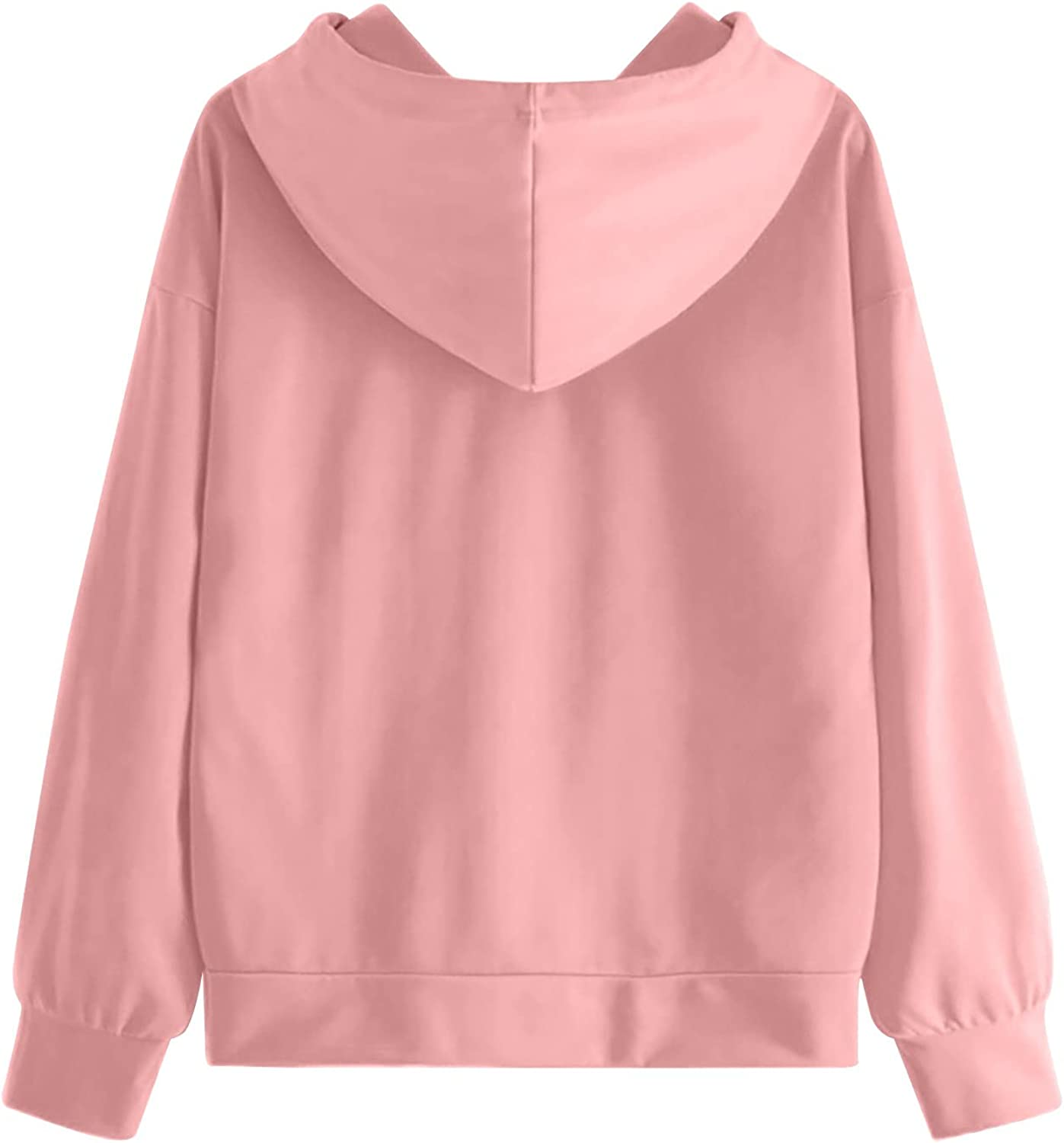 Womens Fall Winter Pullover Hoodies with Pockets Cotton Hooded Sweaters Shirts Coat Cardigan Shirt