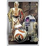 なまけ者雑貨屋 Star Wars - Droids レトロ調 アメリカンブリキ看板 アンティーク風 デザインボード ブリキ看板 メタル (30×20cm)