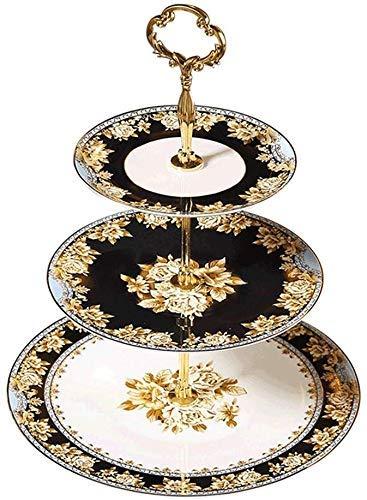 CESULIS Plato de fruta europeo de doble oreja plato de fruta de cerámica placa de cerámica mesa de café americana moderna decoración minimalista creativa artesanía decoración (color: blanco)